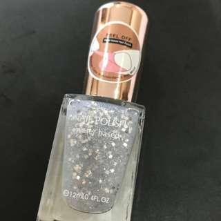 Miniso nail polish 17 shimmer silver atau kutek miniso