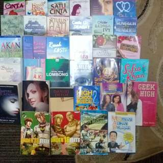 novel second-hand utk di jual