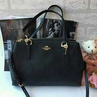 AUTH COACH DOUBLE ZIP 2WAY BAG