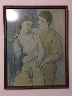 "Vintage Art Print -  Picasso ""The Lovers"""