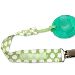 BooginHead Pacifier Strap - Delicate Dot Green