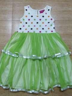 Green polkadot tutu dress