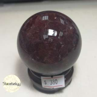 Fire Quartz ball 55mm  草莓晶球 55mm