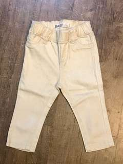 Cotton On Baby Beige/Gold Jeans (Size 0 / 6-12 months)