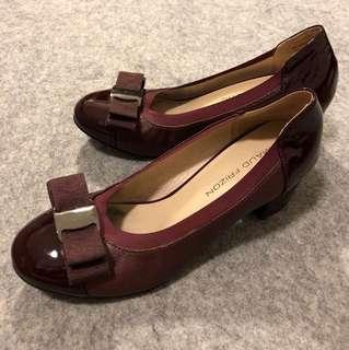 Maud Frizon 酒紅色矮跟鞋