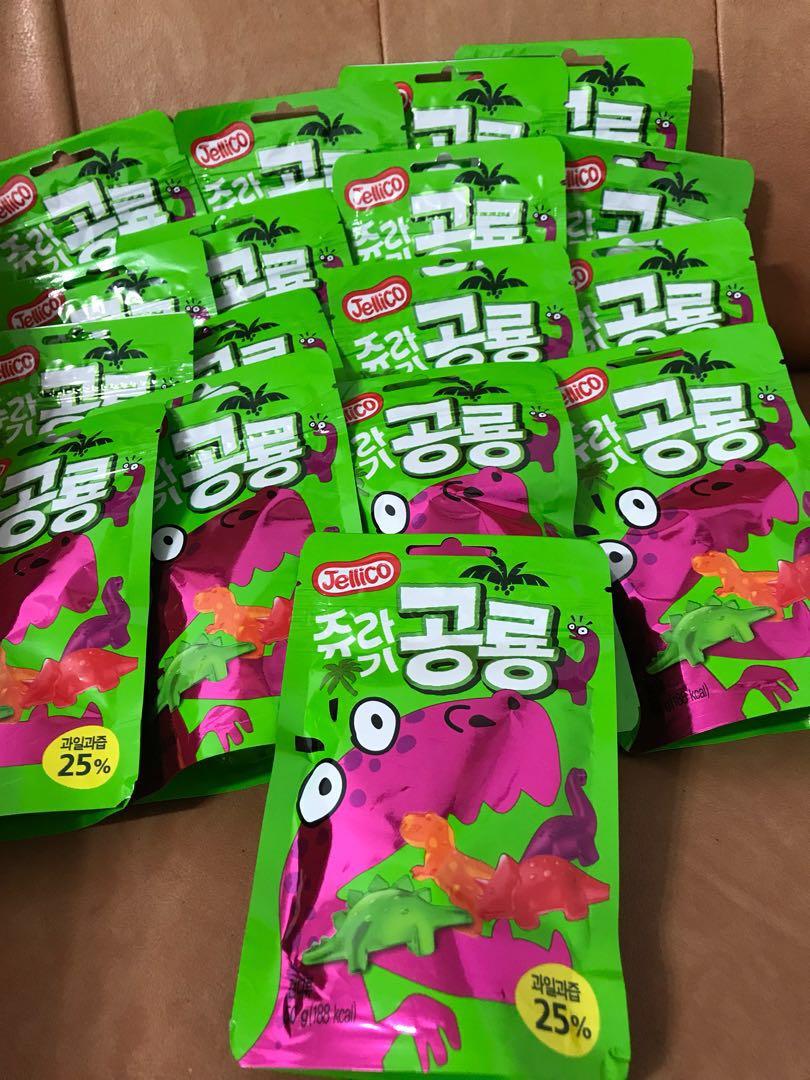 現貨-韓國恐龍造型果汁軟糖