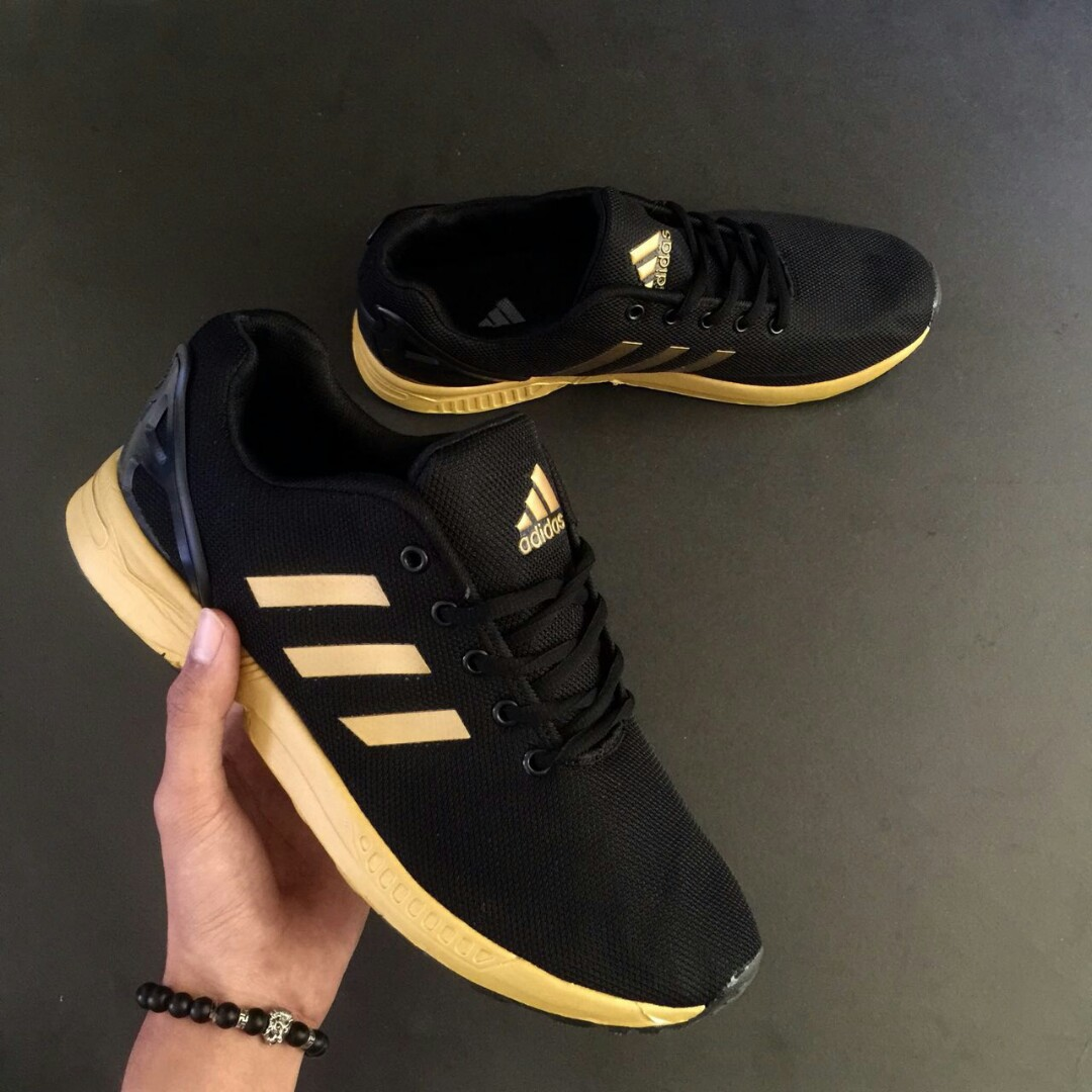 differently 11410 274d6 ADIDAS ZX FLUX BLACK GOLD LINE GOLD