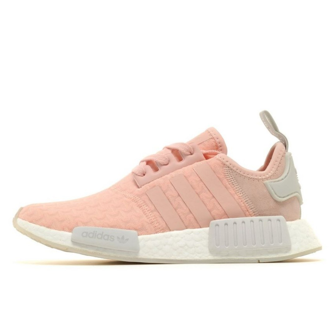 48e8f4d573c3 Authentic Adidas Originals NMD R1 Women s Pink   White