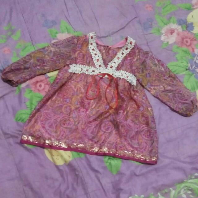 Baju Muslim / Gamis Anak 1-2 Tahun Matt. Sari India, Bayi &