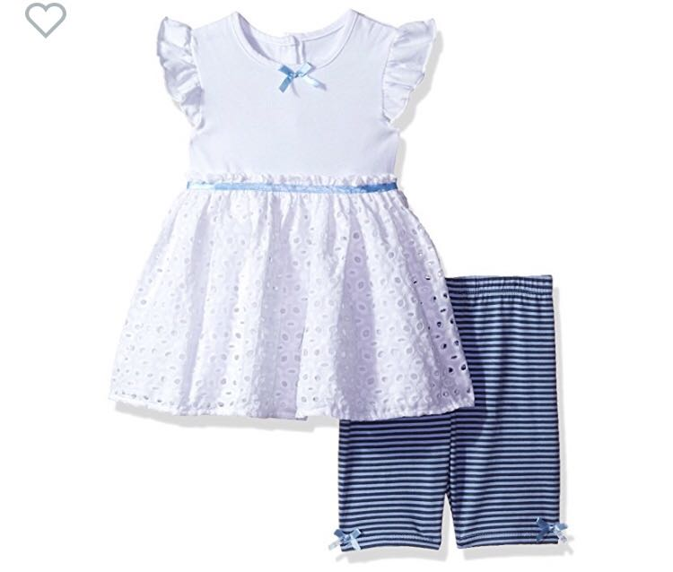 41df8cb2455 BN Cherokee Baby Girl Eyelet Blue Tunic with Shorts Set 12mths ...
