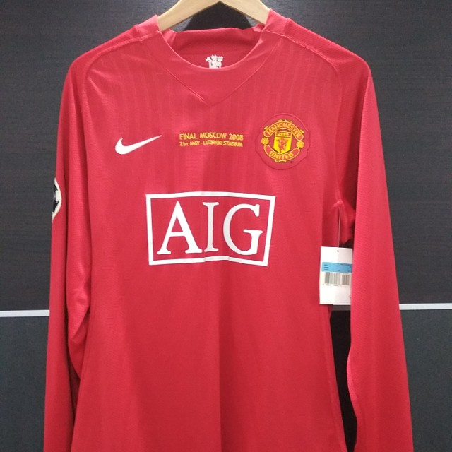 wholesale dealer 755c1 1a46f BNWT Manchester United Final Moscow 08 RONALDO 7 Player Issue UCL Spec  Football Jersey