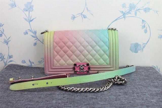 33b4c7609497 Chanel leboy rainbow bag, Women's Fashion, Bags & Wallets on Carousell