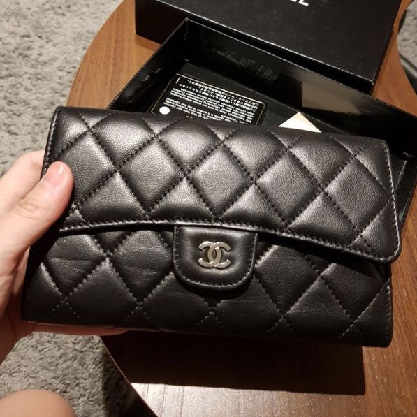 3794503a50da Chanel Wallet price reduced for fast deal, Luxury, Bags & Wallets on  Carousell
