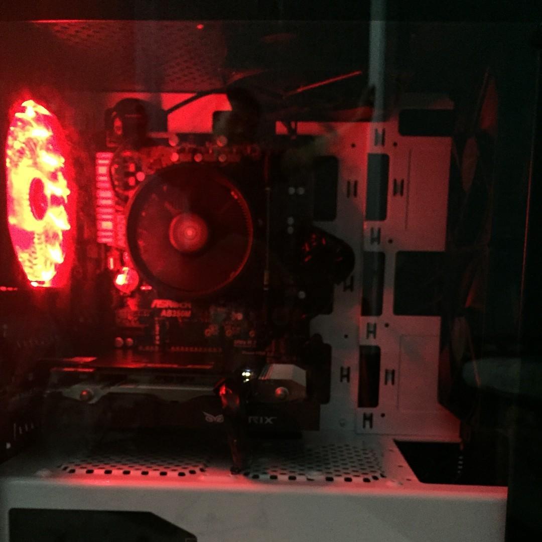 Custom PC (1600X with GTX1060 3GB) ( Desktop NVIDIA AMD INTEL RGB MMORPG  GAME FPS ASUS MSI GALAX ZOTAC SSD GTX1050 GTX1070 I3 I5 I7 RYZEN )