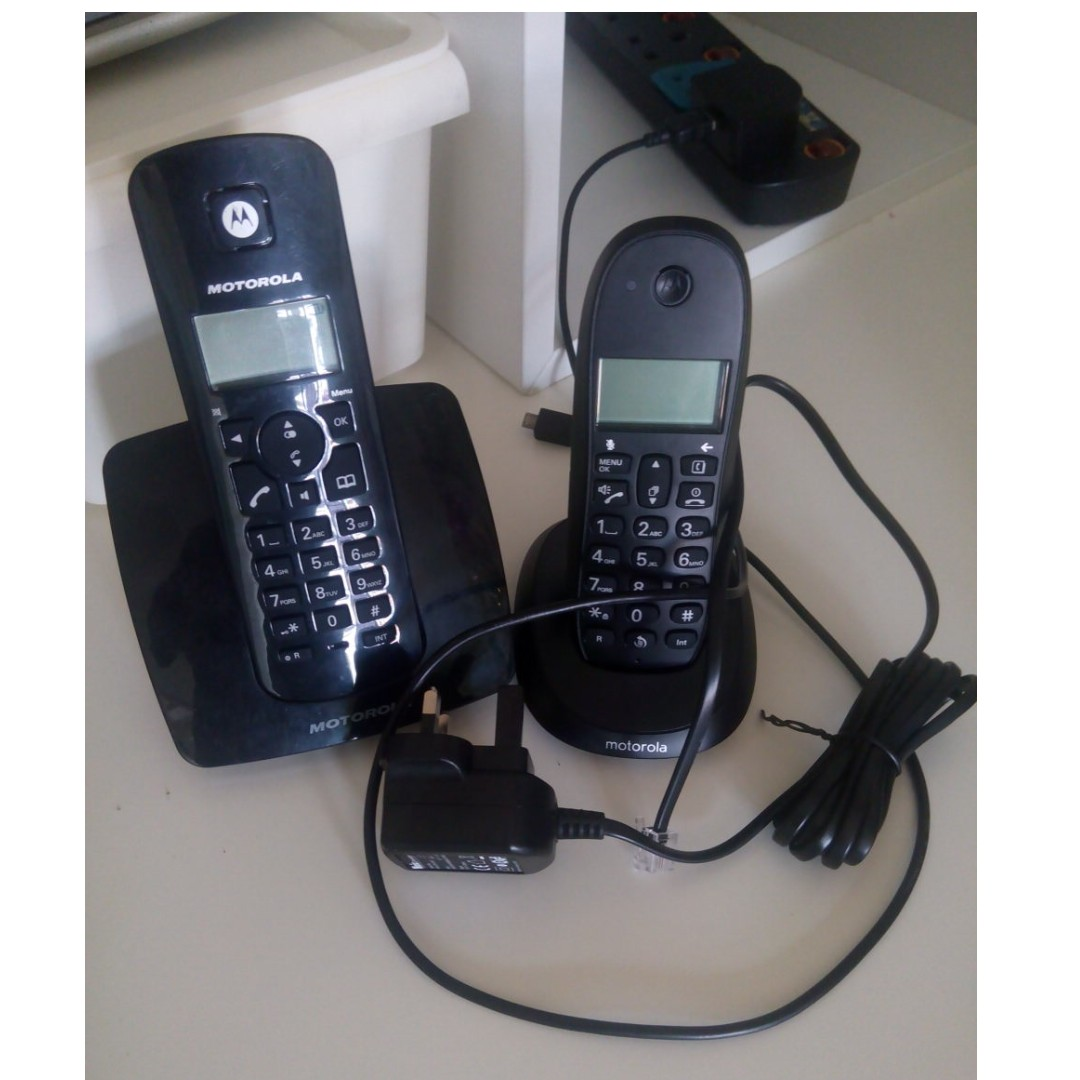 2 dect cordless phone motorola with charger mobiles tablets rh my carousell com motorola c602 manual Intel C602 Chipset Driver