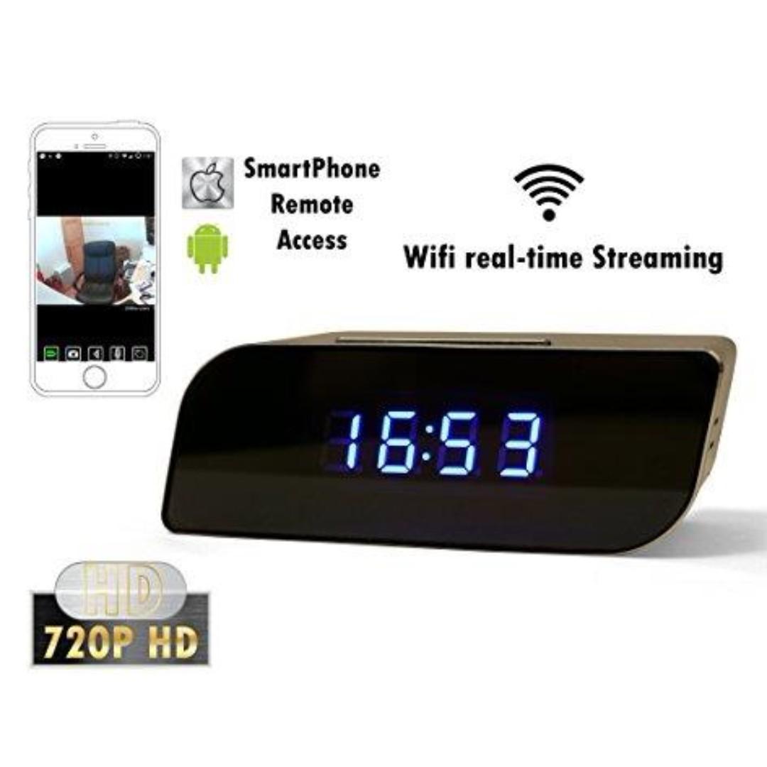 Digital Clock High Imitation Spy Clock CCTV Live Viewing