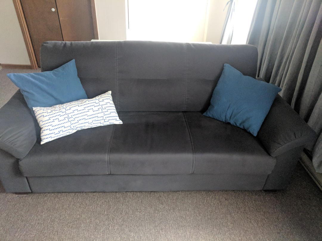 Grey 3 seater ikea couch