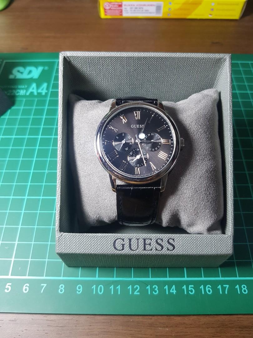Guess W70016g1 Jam Tangan Pria Black Daftar Harga Terkini Dan Nautica Nai10500g Silver Watch Preloved Fesyen