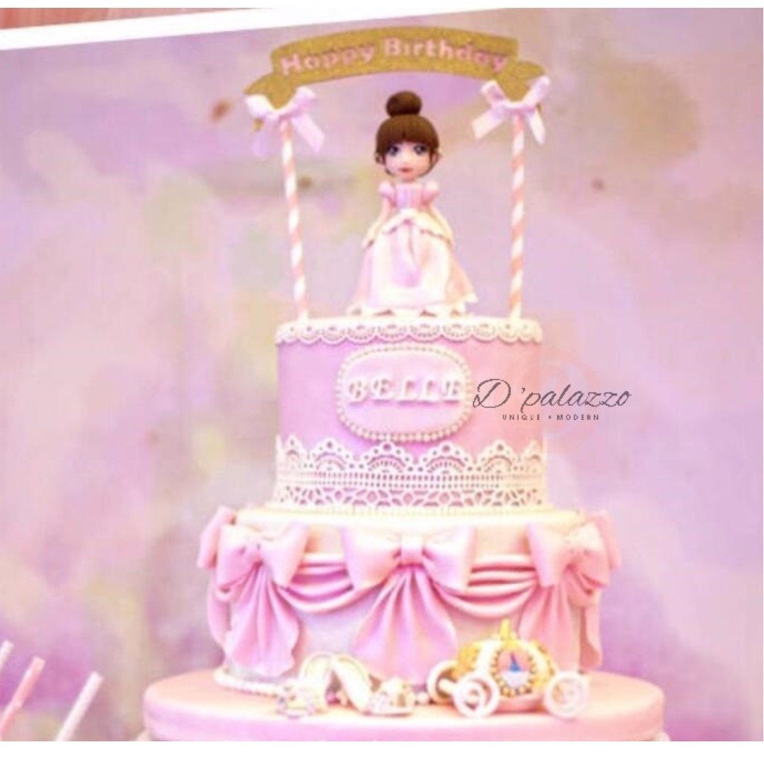 Happy Birthday Cake Topper Cakes Stand Design Craft Others On Carousell