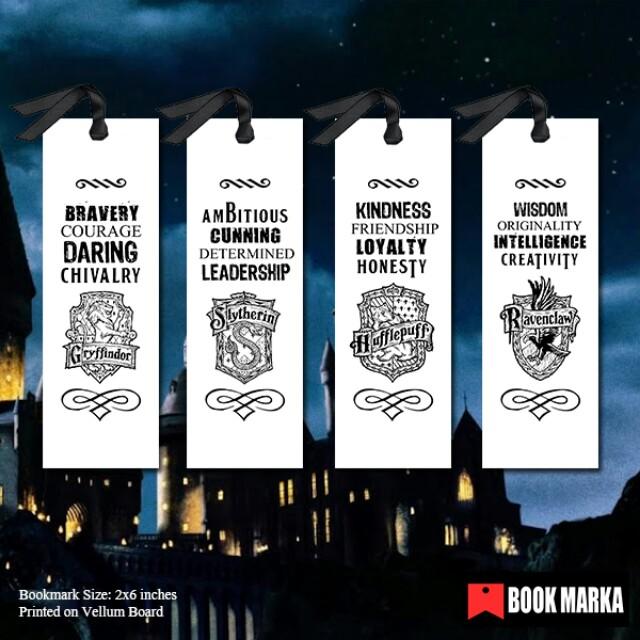On Books Hogwarts Houses Carousell Books Bookmark