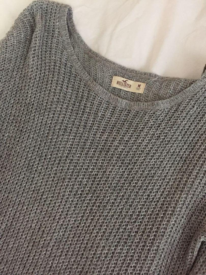 Hollister grey sweater