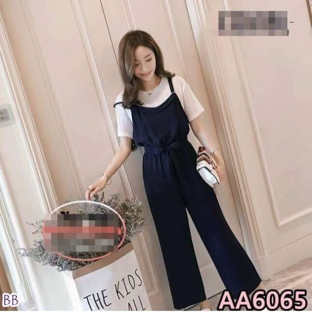 4e3e3076dd7f Jumpsuit set plus tee; f@, Women's Fashion, Clothes, Others on Carousell