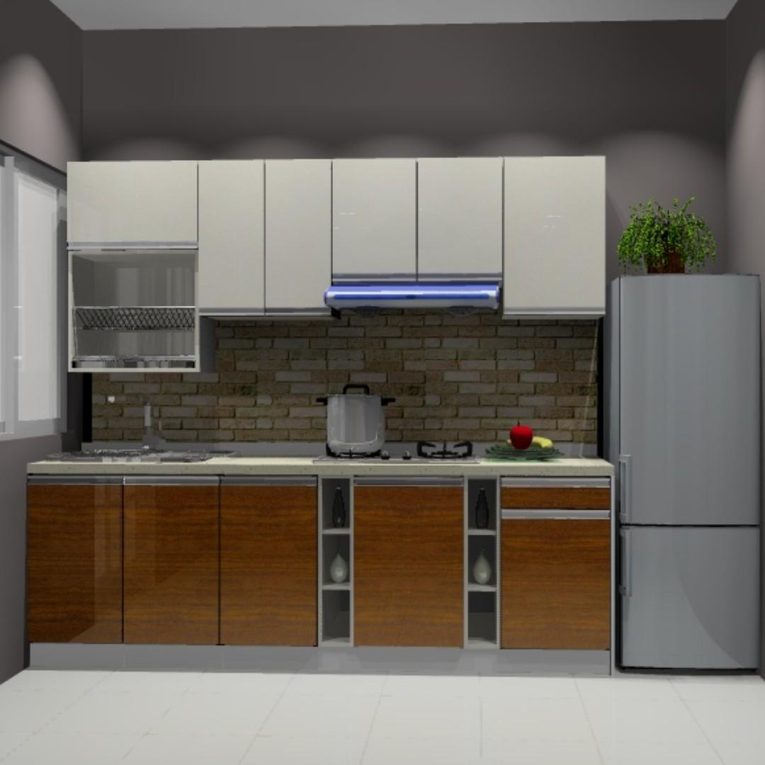 Kabinet Dapur Bajet Harga Terendah Terus Dr Kilang Lengkap Rumah Perabot Di Carou