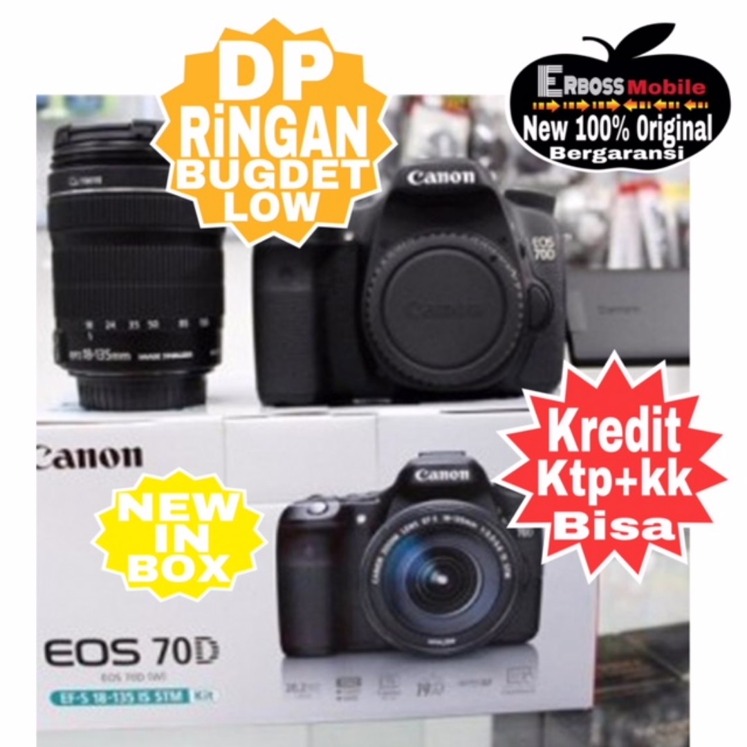Kredit Low Dp Canon Eos 70d Kit18 135mm Resmi Ditoko Ktp Kk Bisa Wa 80d Body Only Bergaransi Datascrip Wa081905288895 Serba Serbi Di Carousell