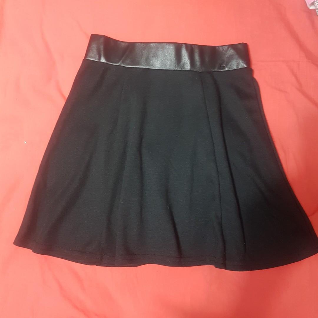 Leather Look Edge Skirt