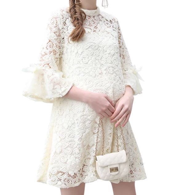 Maternity Dress Crochet Lace Sizes Available Luxury Apparel On