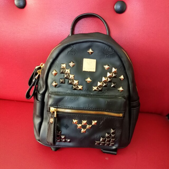 686fd9fb3a8aa MCM Small Stark Odeon Backpack In Black, Women's Fashion, Bags ...