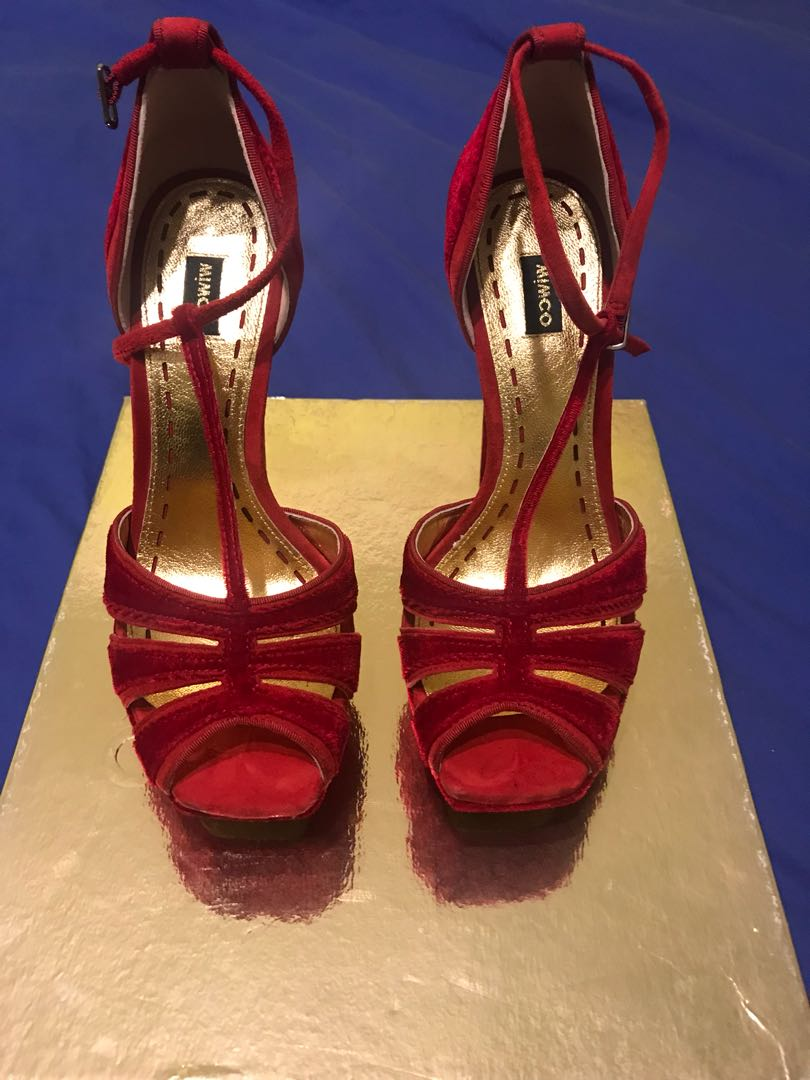 Mimco - Red Velvet High Heels