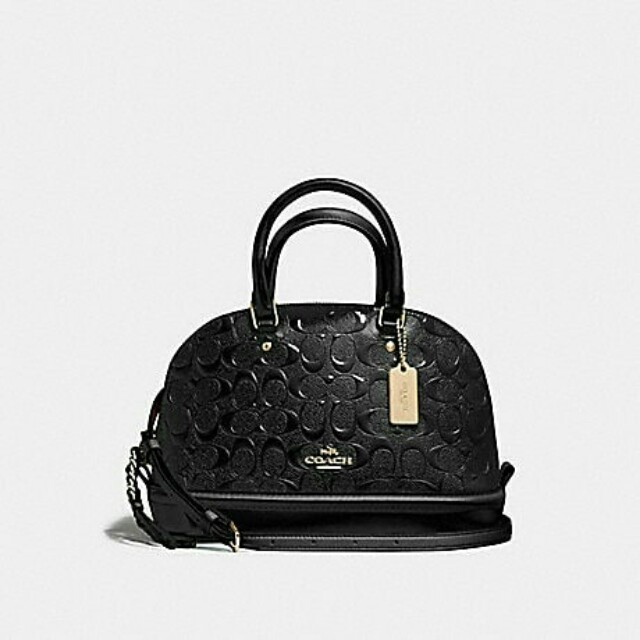 ... france mini sierra satchel in signature debossed patent leather coach  f55450 womens fashion bags wallets on 89a0571d86