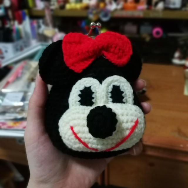 Minnie Mouse Crochet Coin Purse Womens Fashion Bags Wallets On
