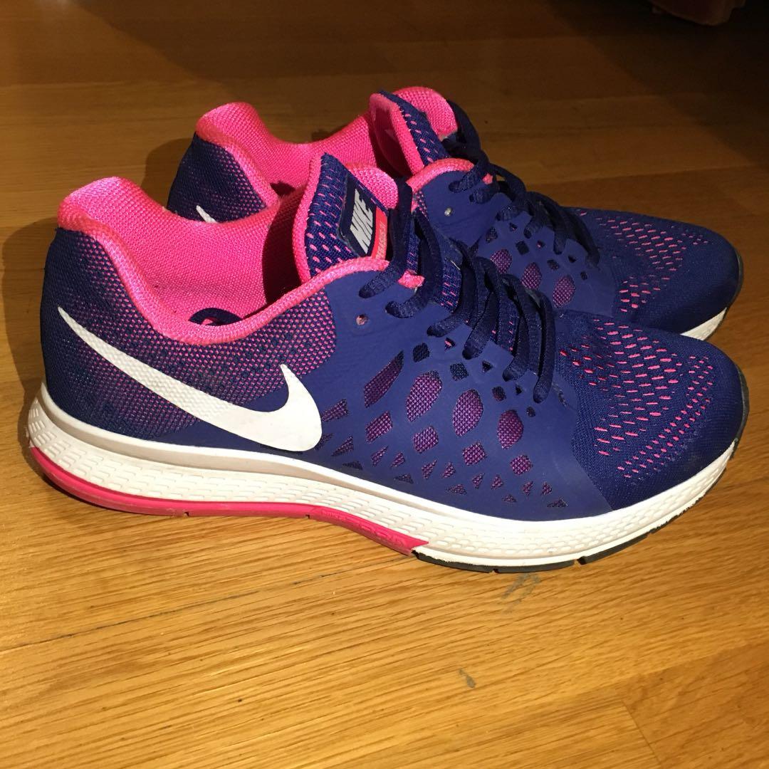 Nike Pegasus pink and blue sneakers