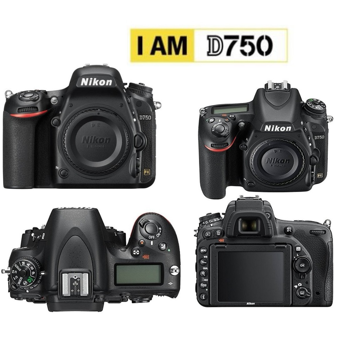 NIKON D750 Body Full Frame DSLR Camera, Photography on Carousell
