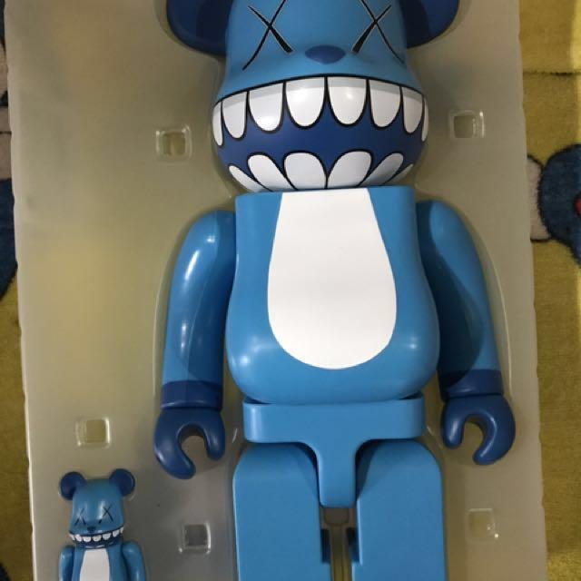 7f315a95 RARE Kaws Chomper Bearbrick 400%+100% Set, Toys & Games, Bricks & Figurines  on Carousell