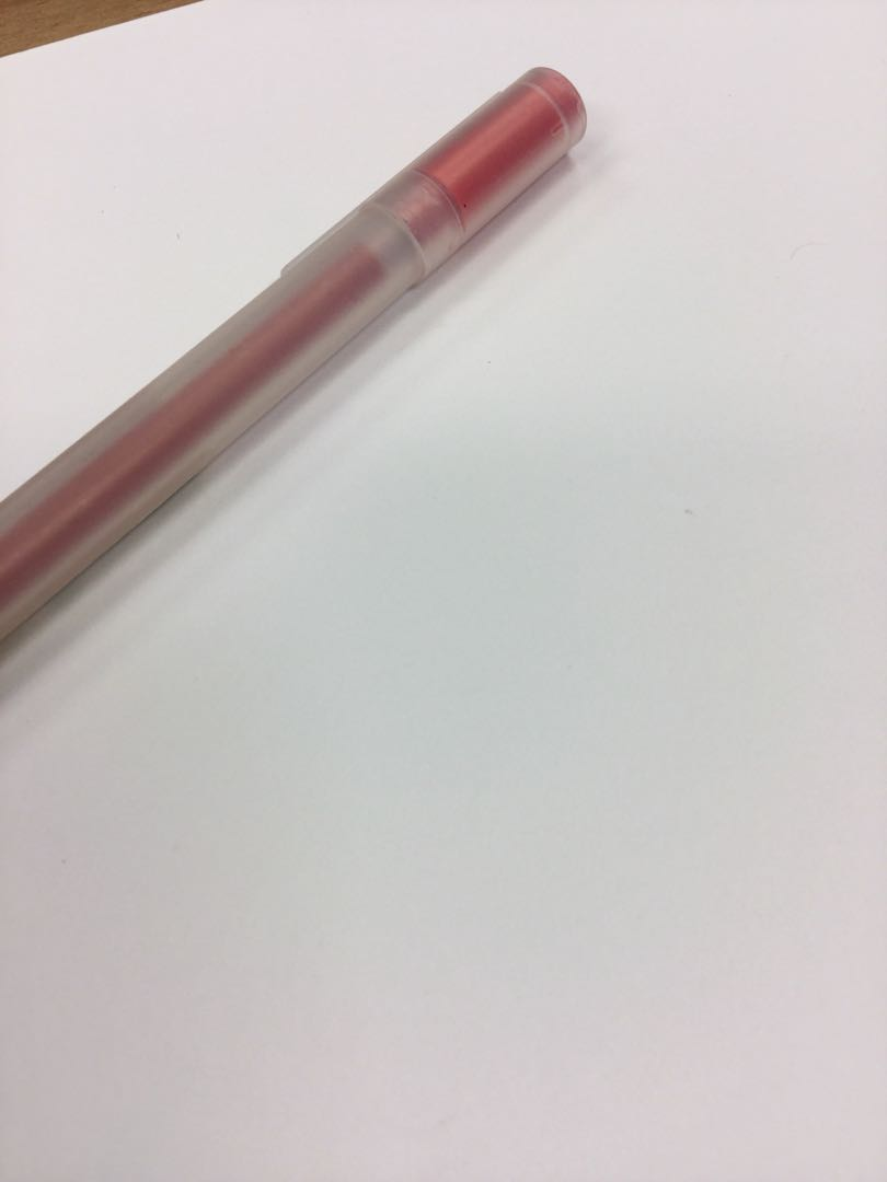 Red pen muji, Books & Stationery, Stationery on Carousell