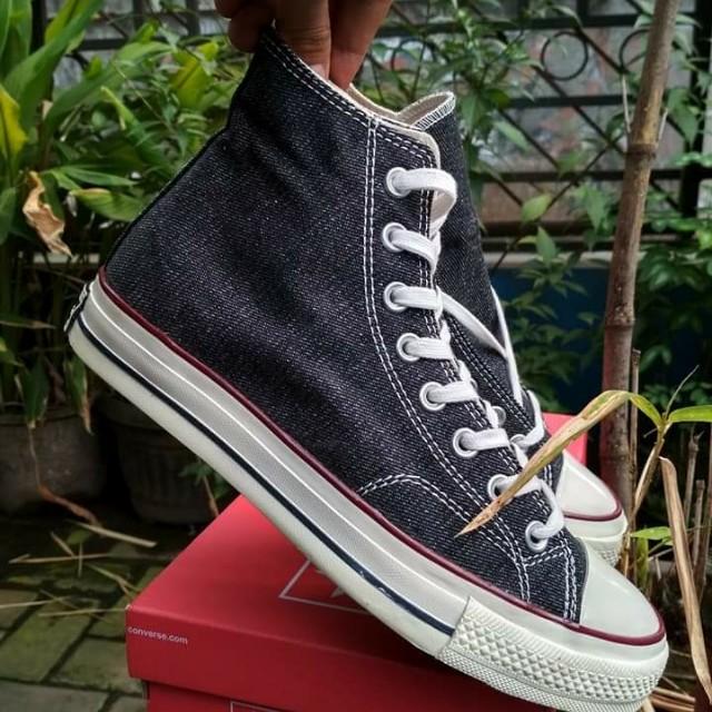e7c74e7b5e849d Sepatu Converse All Star CT 70s Hi Black Denim Premium BNIB