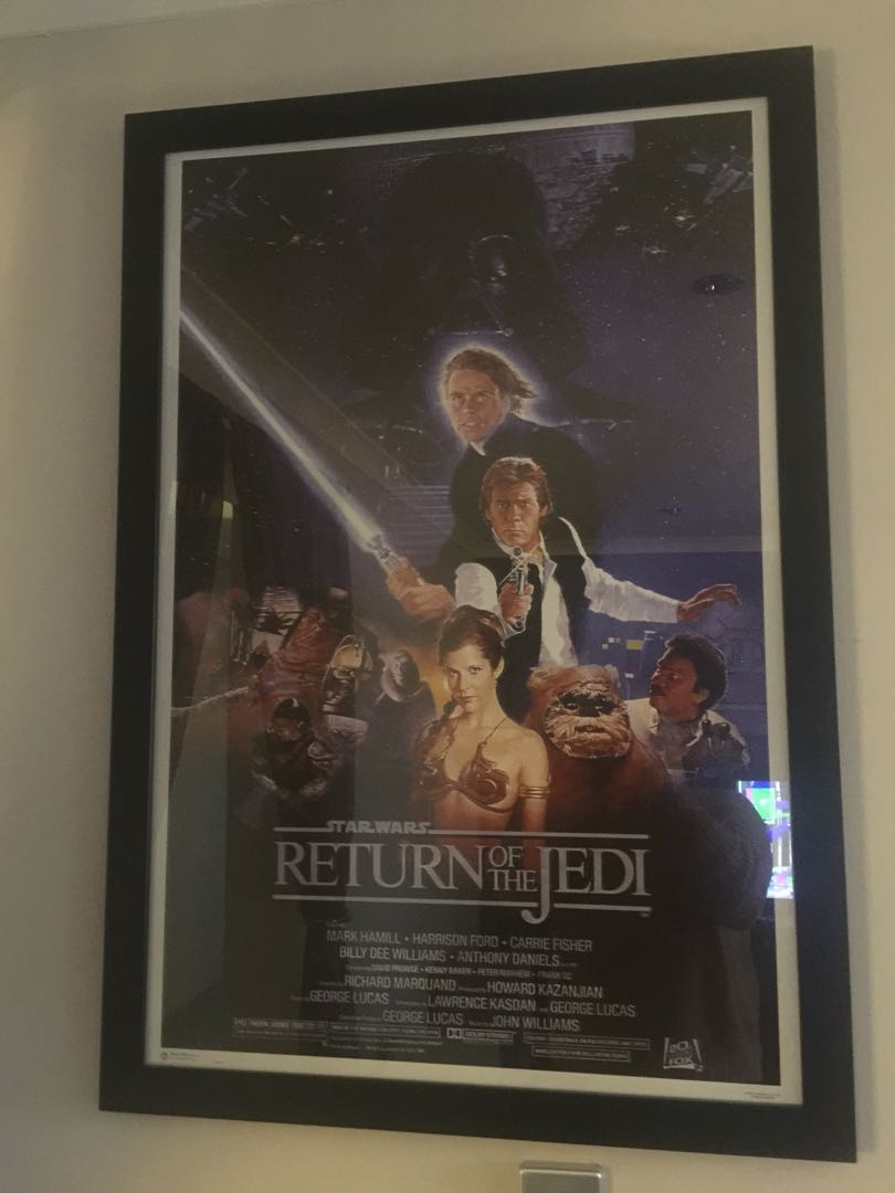 star wars poster framed home furniture home decor on carousell