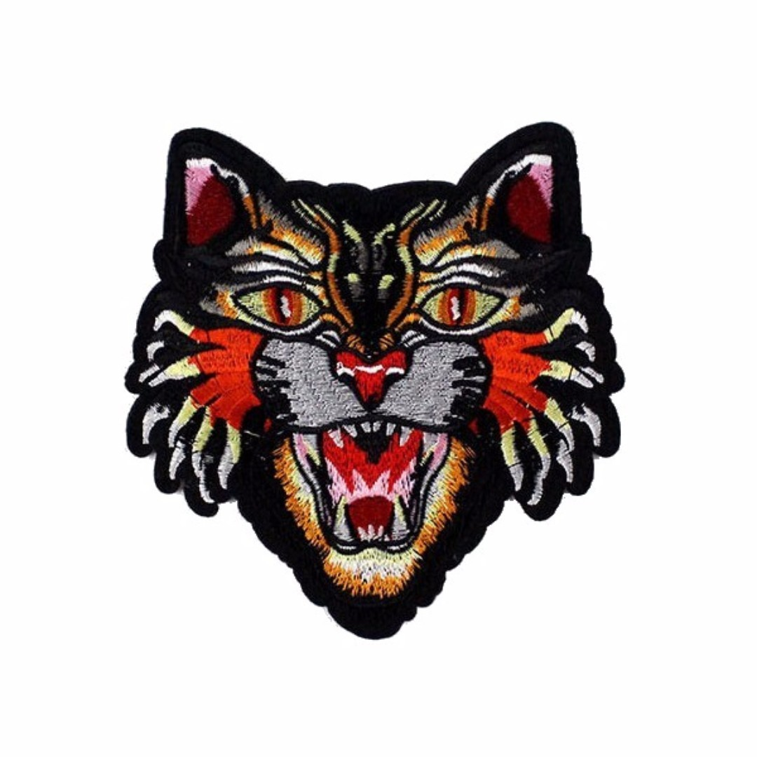 4bdc59c1f09 Tiger Head Gucci Style Iron On Patch