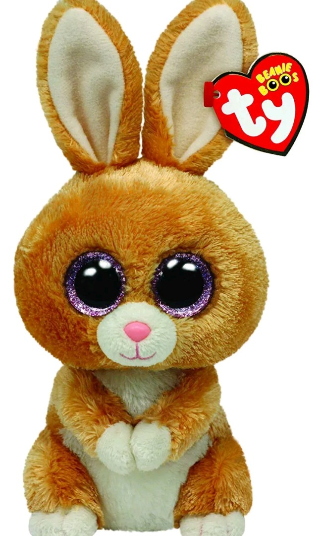 Ty Beanie Baby Boos Carrots Brown Bunny Plush