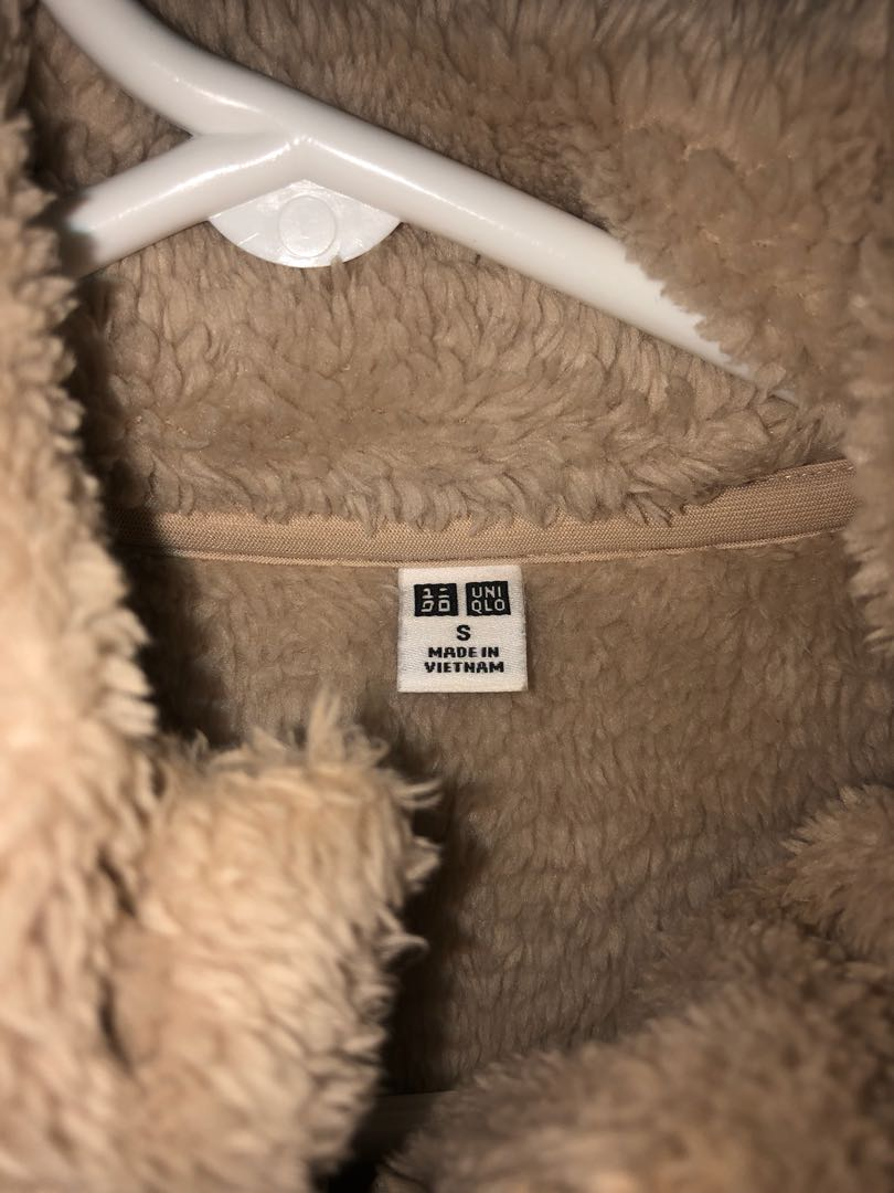 UNIQLO fleece beige sweater