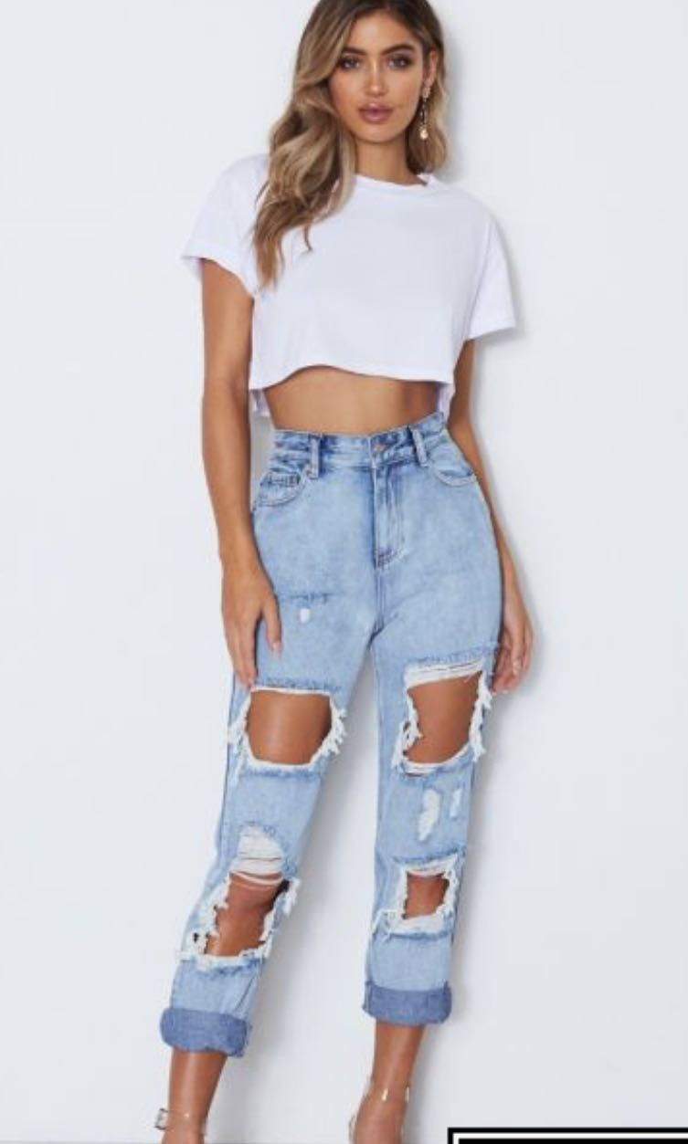 White fox Distressed Jeans