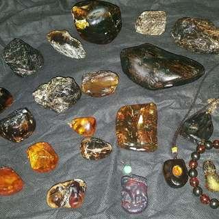 多明尼加,墨西哥,波羅的海天然琥珀,密蜡。