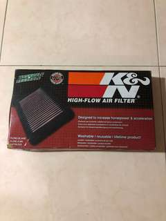 K&N Air Filter used , I use for Toyota Altis