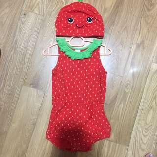 Hnm Strawberry Romper