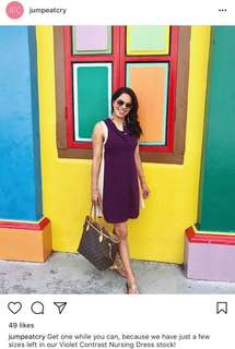 Jump eat cry BRAND NEW violet nursing dress