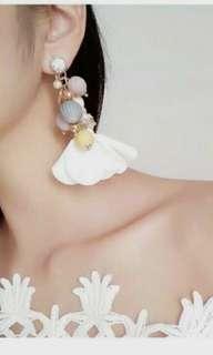 0270D3r-Anting- Bohemian Diamonds Bead Leather Flowers As Photo  Barang Ready