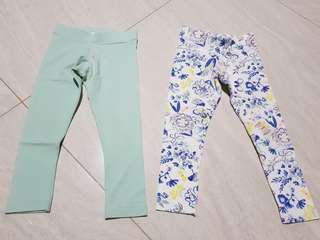 Legging floral and turqoise